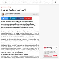 "Stop au ""techno-bashing"" !"