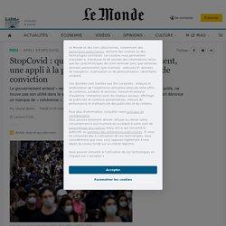 LE MONDE 03/10/20 StopCovid : quatre mois après son lancement, une appli à la peine, maintenue sans grande conviction