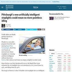 Pittsburgh's new artificially intelligent stoplights
