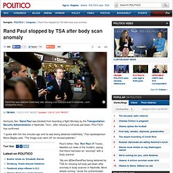 Rand Paul detained by TSA - Tim Mak