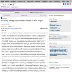 THE LANCET 19/05/17 Stopping emerging influenza viruses at their origin