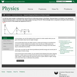 Speed & Stopping Distance of a Roller-Coaster - Physics - University of Wisconsin-Green Bay