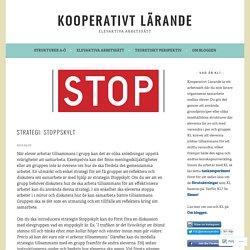 Strategi: Stoppskylt – Kooperativt Lärande