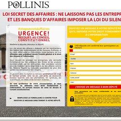 #StopSecretdAffaires - Non à la loi des lobbies !