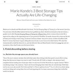 Marie Kondo's 3 Best Storage Tips Actually Are Life-Changing
