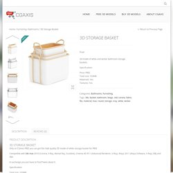 3D Storage Basket - free.cgaxis.comCGAxis Free 3D Models