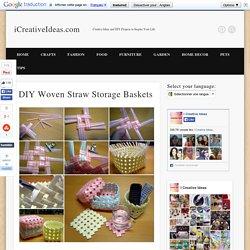 DIY Woven Straw Storage Baskets