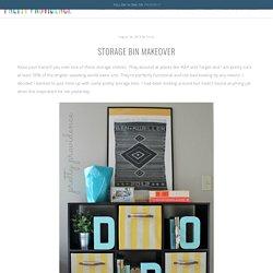 Storage Bin Makeover