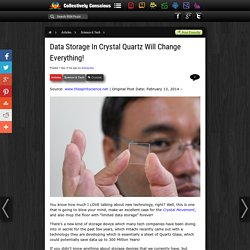 Data Storage In Crystal Quartz Will Change Everything!