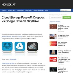 Cloud Storage Face-off: Dropbox vs Google Drive vs SkyDrive