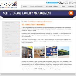 Self Storage Facility Management