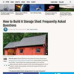 How to Build A Storage Shed: Frequently Asked Questions