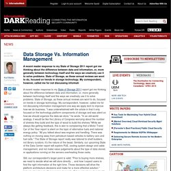 Data Storage Vs. Information Management