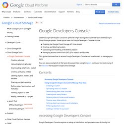 Installing Google Storage Manager