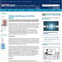 VMware And Storage: Start With Basics