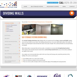 Self Storage Partitions Unit-Dividers & Walling