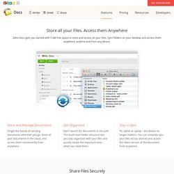 Free cloud storage, powerful document editors and secure file sharing