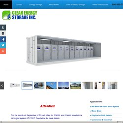 Clean Energy Storage inc. - Energy Storage, Powergrid, Energy Storage Systems
