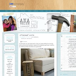 Build Your Own DIY Sofa – Free Plans — Ana White