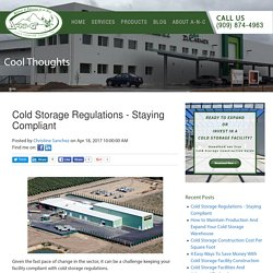 Cold Storage Regulations - Staying Compliant