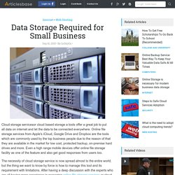 Data Storage Required for Small Business