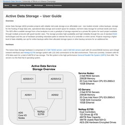 Active Data Storage – User Guide