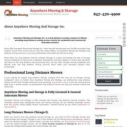 Moving and Storage Services – AWMoving