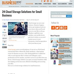 24 Cloud Storage Solutions for Small Businesses