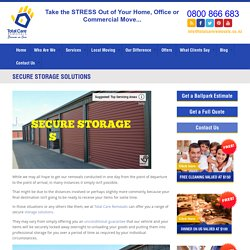 Secure Storage Solutions – Moving and Storage Company in NZ
