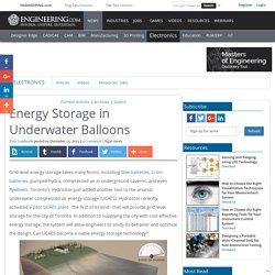 Energy Storage in Underwater Balloons