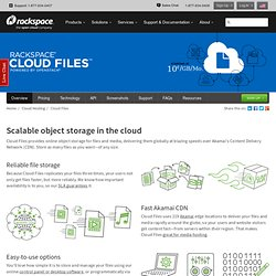 Cloud Storage & Unlimited Online File Storage - Rackspace Cloud Files