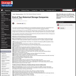 End of Two Historical Storage Companies