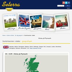 Storbritannien: städer - geografispel