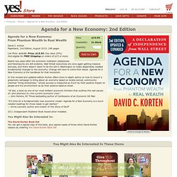 Agenda for a New Economy: 2nd edition : YES! Magazine, Supporting you in building a just and sustainable world