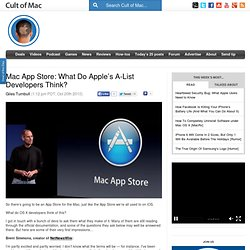 Mac App Store: What Do Apple's A-List Developers Think?