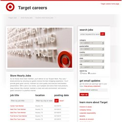 Store Hourly - Store Hourly jobs in Houston at Target