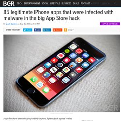 App Store Hack: A list of iPhone apps infected with malware