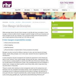 Store Manager Job Description