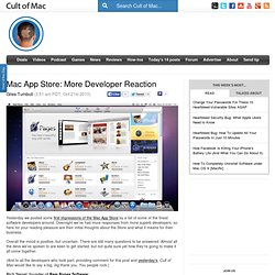 Mac App Store: More Developer Reaction