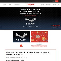 Steam Wallet Offers - NovaPlay