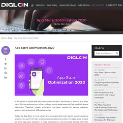 App Store Optimization 2020 - Diglon