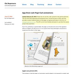 App Store-safe Page Curl animations