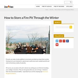How to Store a Fire Pit Through the Winter - Zeus Fires