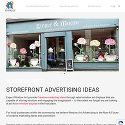 Storefront Advertising Ideas
