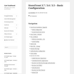 StoreFront 3.7 / 3.6 / 3.5 – Basic Configuration – Carl Stalhood