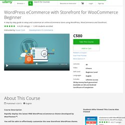 WordPress eCommerce with Storefront for WooCommerce Beginner [ CORK ]