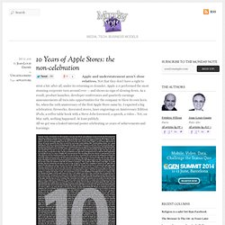 10 Years of Apple Stores: the non-celebration