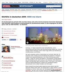 Störfälle in deutschen AKW: 4000-mal Alarm - SPIEGEL ONLINE - Nachrichten - Wirtschaft