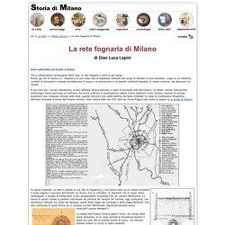 La rete fognaria di Milano