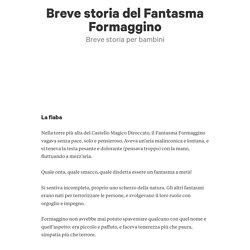 Breve storia del Fantasma Formaggino di Domenico De Palma